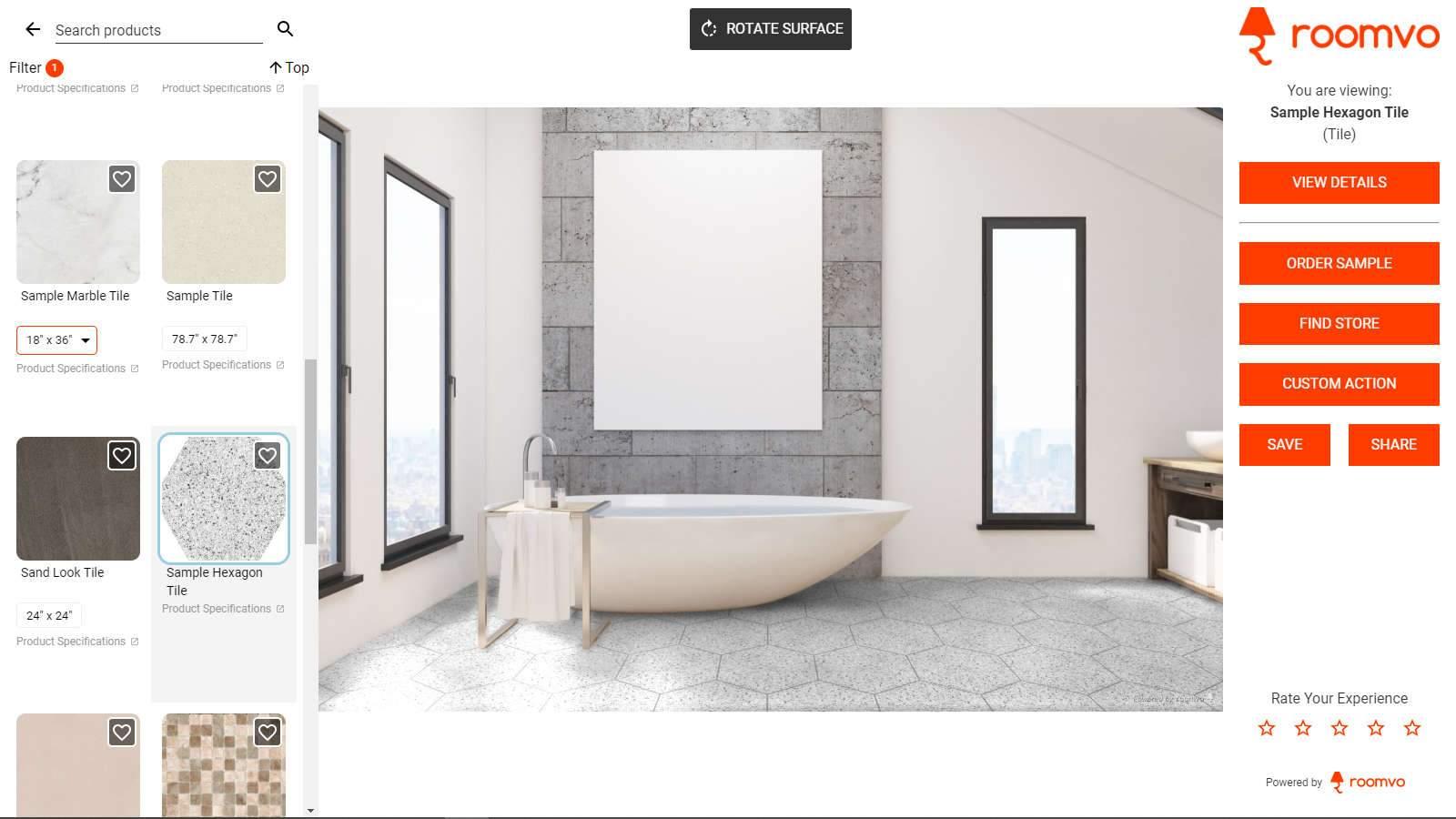 Roomvo Sample Bathroom